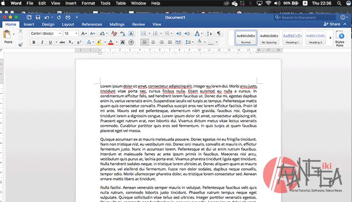 Kita sudah bisa menulis sebuah dokumen di Microsoft Word