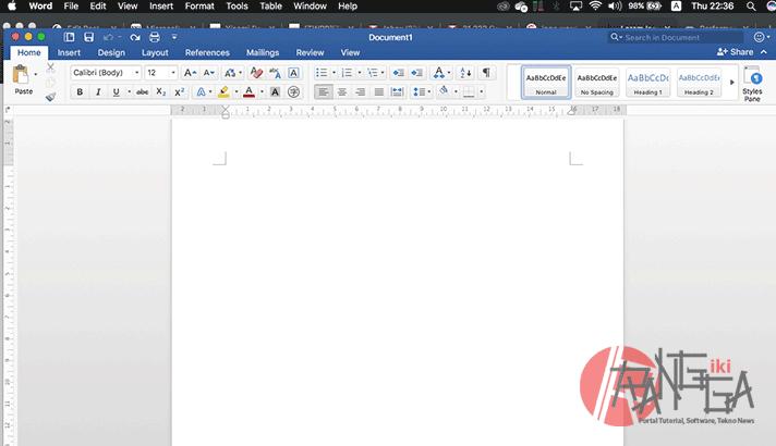 Membuka aplikasi Word yang merupaka bagian dari Beberapa langkah membuat dokumen di Microsoft Word
