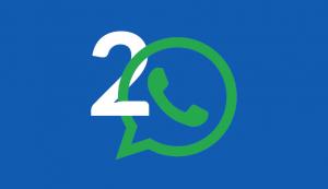 2 Aplikasi Whatsapp di smartphone Android