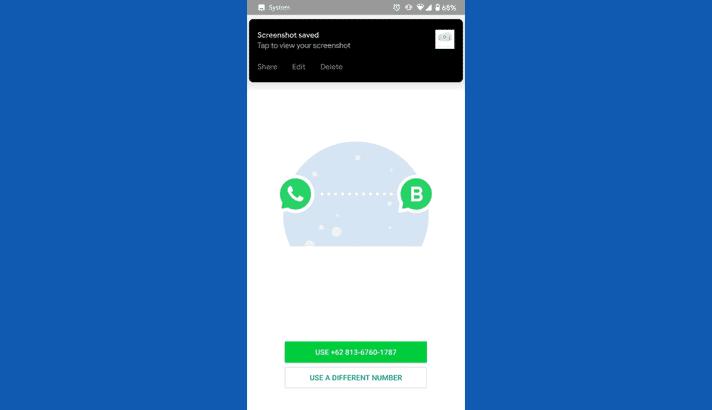 bagian dalam aplikasi whatsapp business
