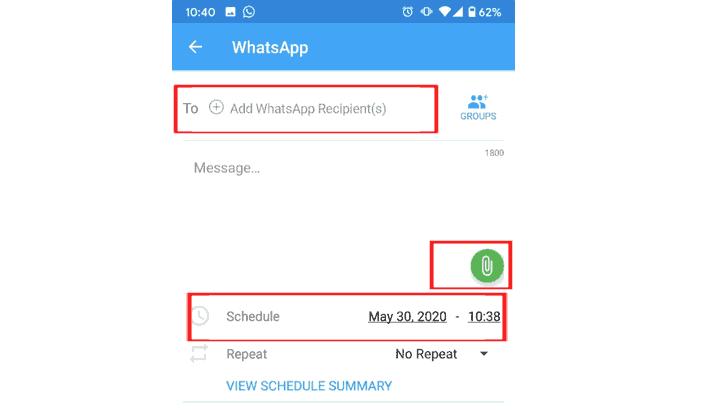 Kiirm Whatsapp menggunakan SKEDit