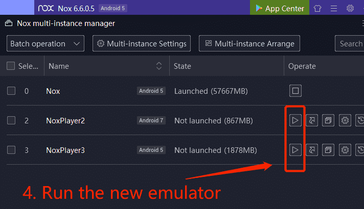 Multi Instance NoxPlayer Android emulator