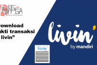 Download bukti transaksi Livin by Mandiri