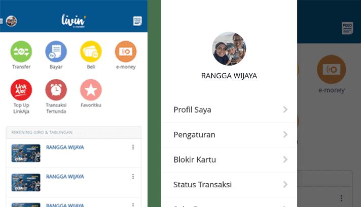 bagian menu untuk mengatur download transaksi